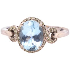 1.72 Carat Aquamarine Engagement Ring