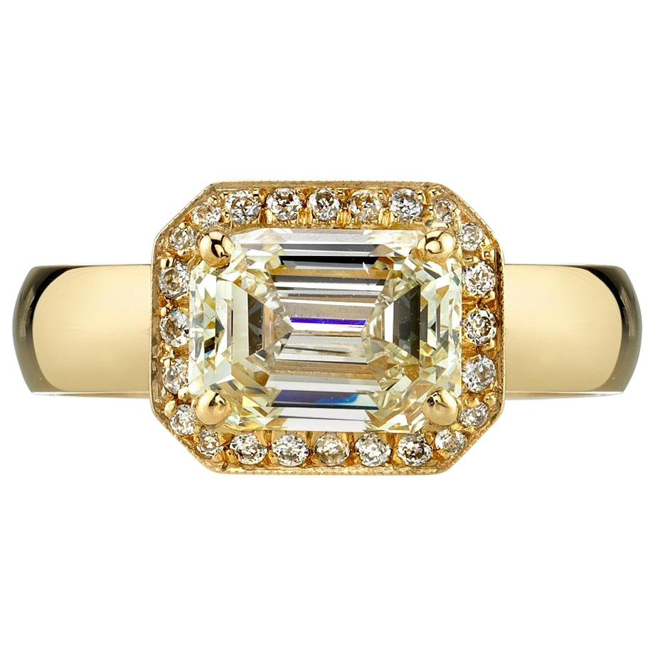 Handcrafted Jacey Emerald Cut Diamond Ring by Single Stone
