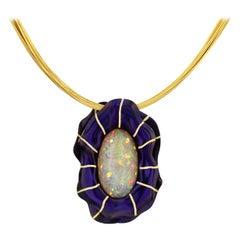 17.32 Carat Opal in Purple Zirconium Pendant by Zoltan David