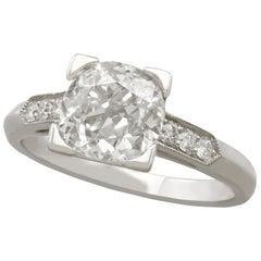 1.74 Carat Diamond and Platinum Solitaire Engagement Ring