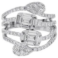 1.74 Carat Diamond Cocktail Ring