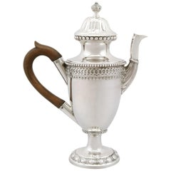 1743 Antique German Silver Coffee Pot