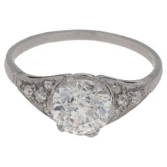 1.75 Carat Art Nouveau Diamond Single Stone Engagement Ring