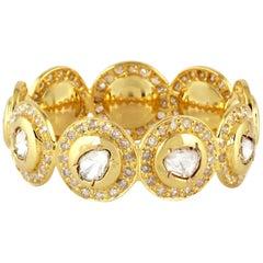 1.75 Carat Diamond 18 Karat Yellow Gold Cocktail Ring