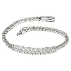 1.75 Carat Diamond White Gold Bracelet