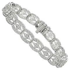 1.75 Carat Natural Diamond Fashion Bracelet G SI 14 Karat White Gold