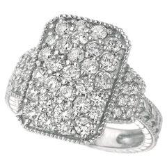 1.75 Carat Natural Diamond Ring G SI 14 Karat White Gold