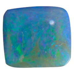 Ethically sourced Australian 1.75 Carat Square Cut Opal Stone for Bespoke Design