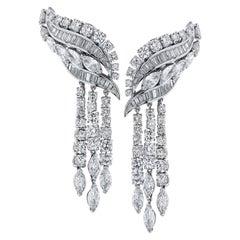 17.50 Carat Diamond Dangle Earrings