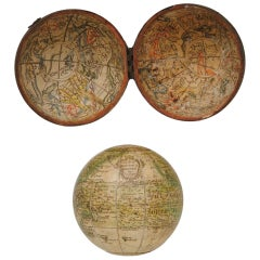 1754 Nathaniel Hill Pocket Globe