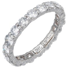 1.76 Carat Round Diamond Platinum Eternity Wedding Band Ring