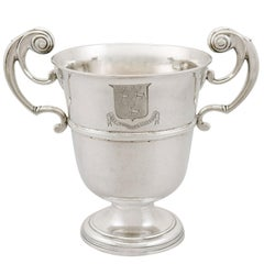 1760s Antique Irish Sterling Silver Loving Cup