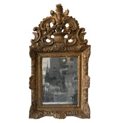 1760s French Provincial Carved Wood Mirror