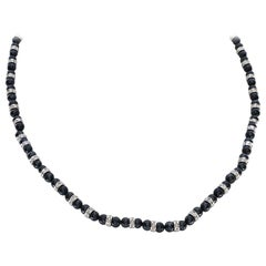 176.6 Carat White and Black Diamond Necklace