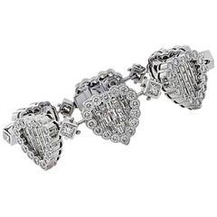 17.7 Carat Diamond Heart Bracelet