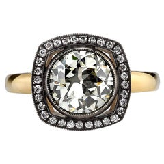 1.77 Carat Old European Cut Diamond Ring