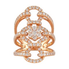 1.78 Carat Diamond and 18 Karat Rose Gold Cocktail Ring