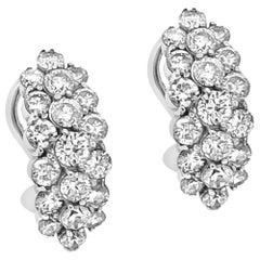 1.78 Carat Natural Diamonds 18 Karat White Gold Earrings