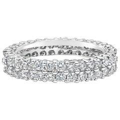 1.78 Carat Round Diamond Double-Row Eternity Wedding Band