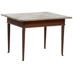 1780s Exceptional Gustavian Original Painted Center Table, Stockholm
