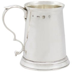 1780s Georgian Sterling Silver Christening or Children's Mug