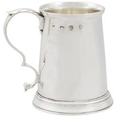1780s Georgian Sterling Silver Christening or Children's Mug