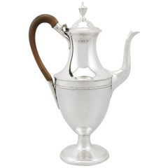 1780s Georgian Sterling Silver Coffee Pot