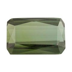 17.86 Carat Loose Tourmaline Gemstone, Genuine Green Rectangular