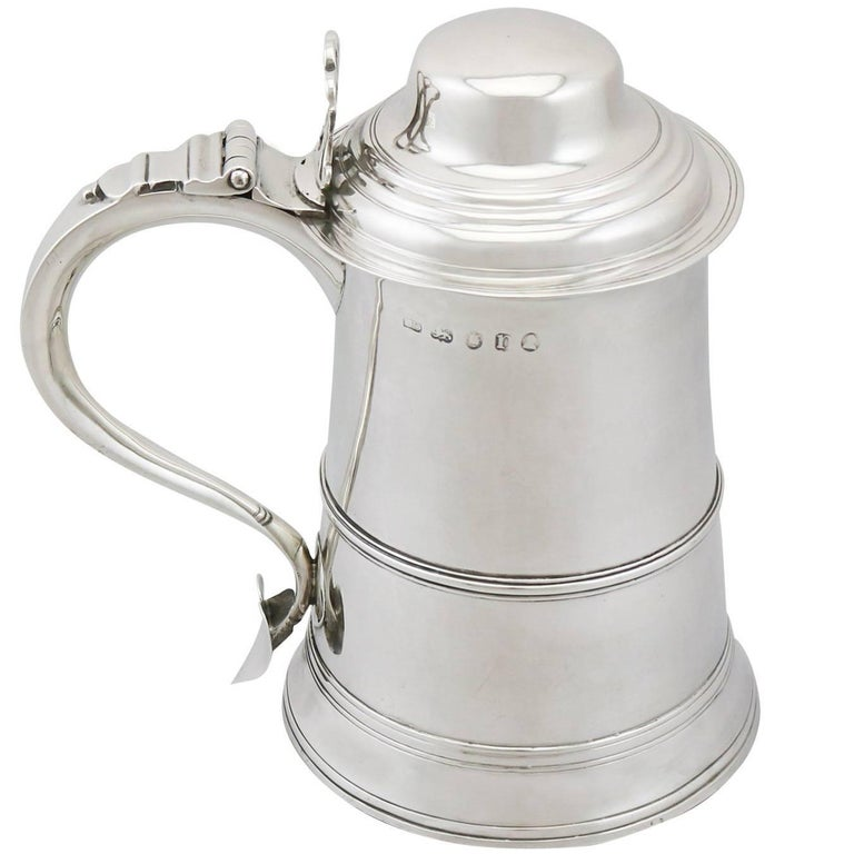1788 Antique Sterling Silver Tankard