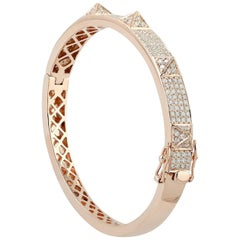 1.79 Carat Diamond 18 Karat Gold Simplicity Bracelet Bangle