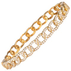 1.79 Carat Diamond Bengal 18 Karat Yellow Gold Open Clasp