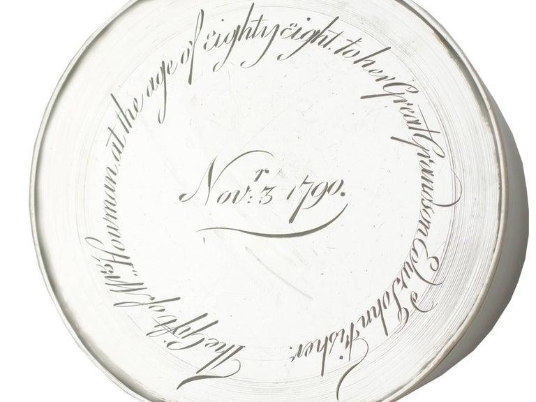 1790 Antique Georgian Sterling Silver Ladies Mug For Sale 4