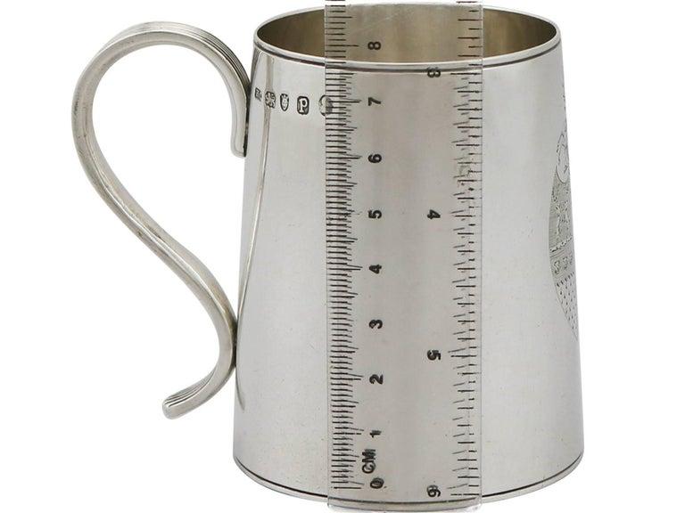 1790 Antique Georgian Sterling Silver Ladies Mug For Sale 6