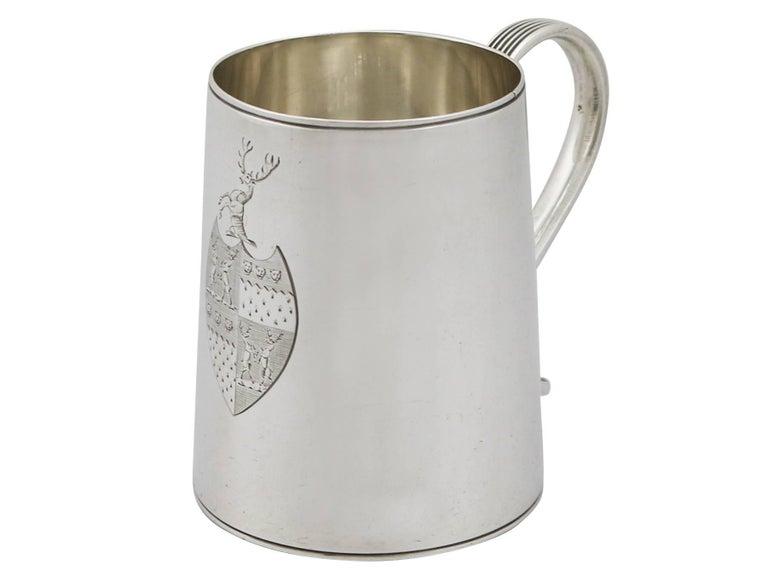 English 1790 Antique Georgian Sterling Silver Ladies Mug For Sale