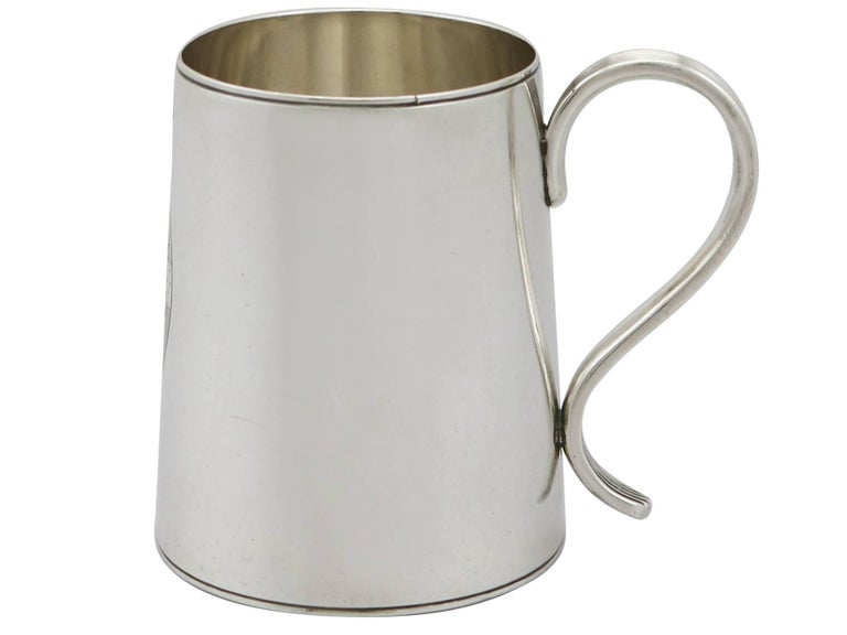 1790 Antique Georgian Sterling Silver Ladies Mug In Excellent Condition For Sale In Jesmond, Newcastle Upon Tyne