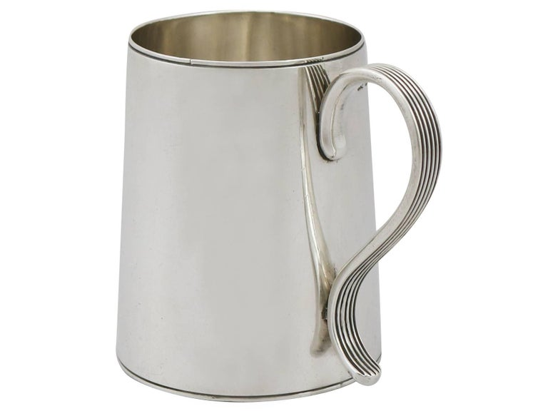 Late 18th Century 1790 Antique Georgian Sterling Silver Ladies Mug For Sale