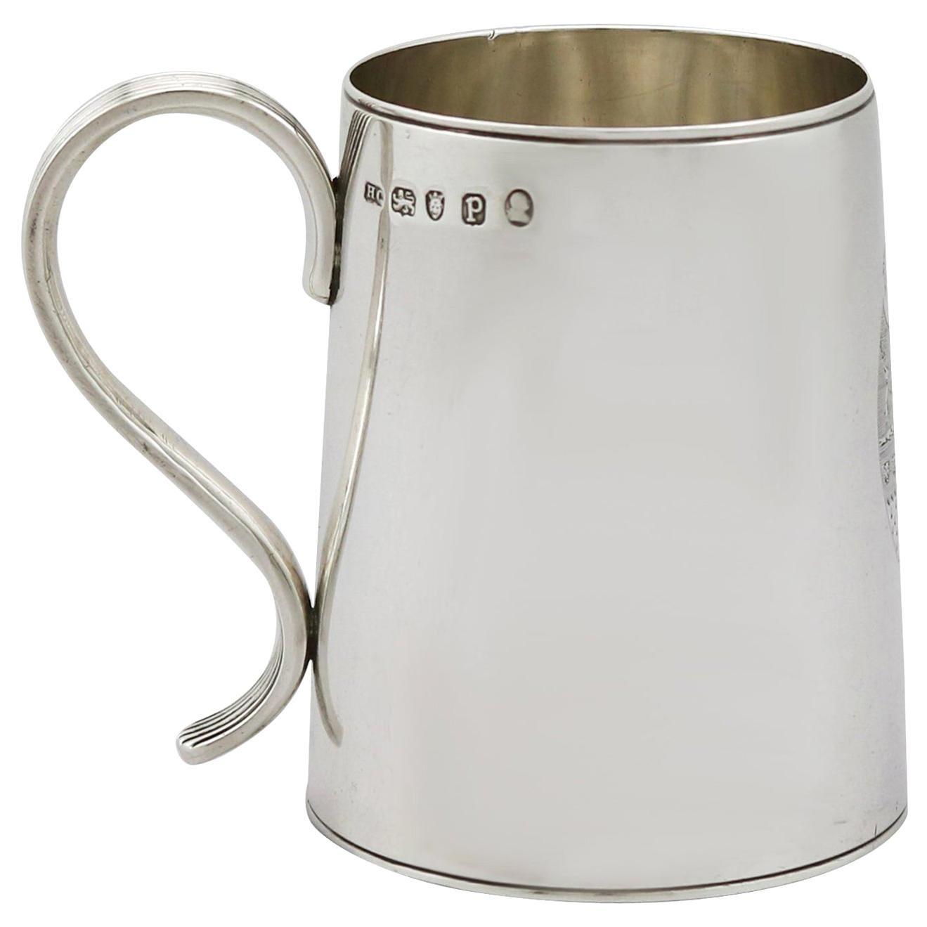 1790 Antique Georgian Sterling Silver Ladies Mug