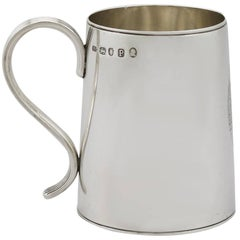 1790 Antique Georgian Sterling Silver Ladies Mug