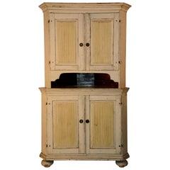 1790s Gustavian Corner Cupboard