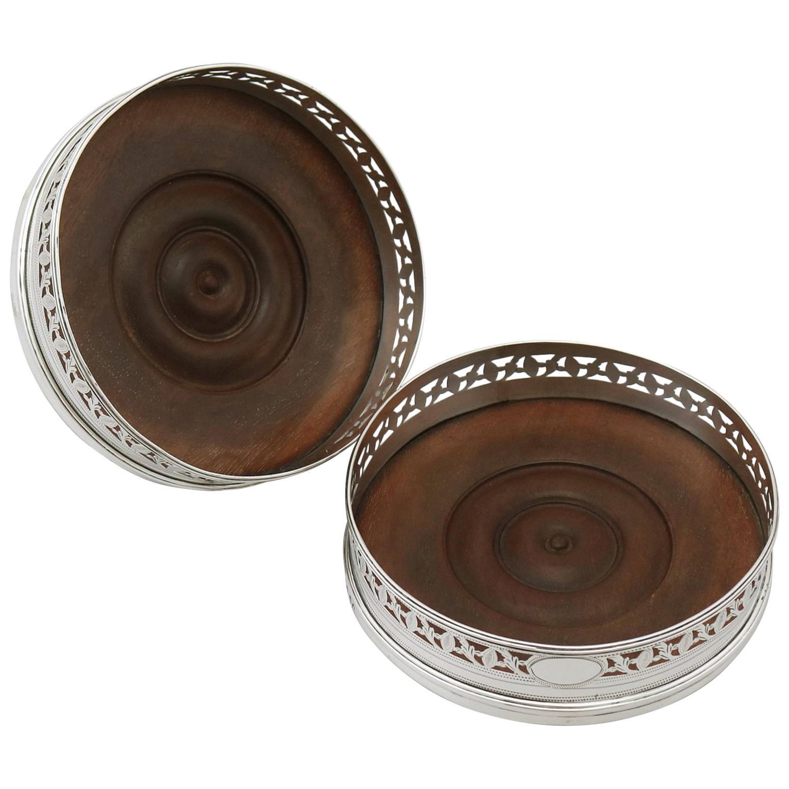 1795 Georgian Sterling Silver Coasters