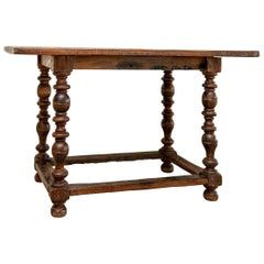 17th-18th Century Antique Oak Tavern Table