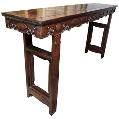 17th-18th Century Chinese Hard Wood Altar Table