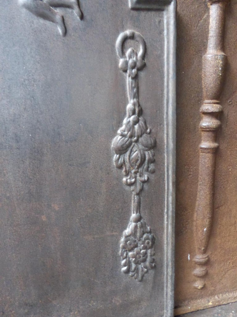 Cast 17th-18th Century Dutch 'Allegory of Peace' Fireback For Sale
