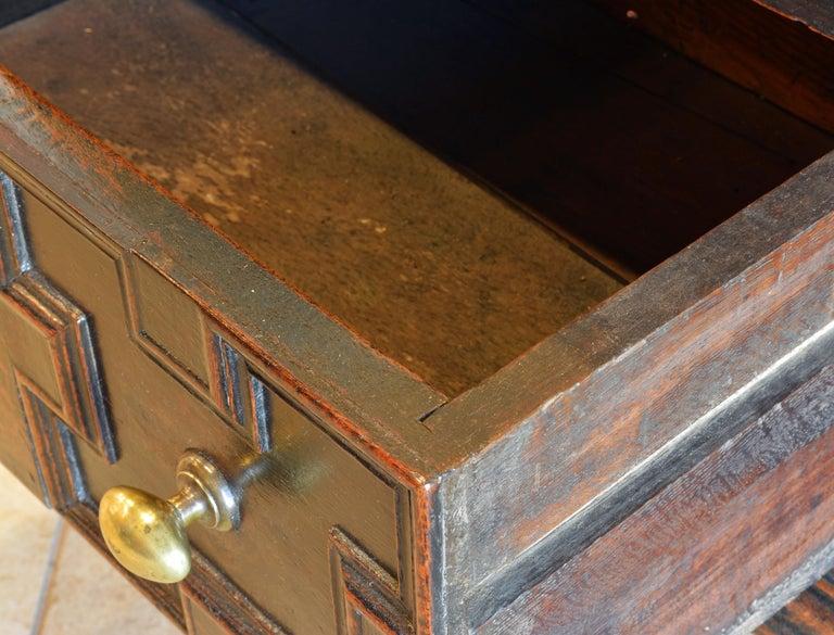 17th-18th Century English Jacobean Style Three-Drawer Oak Wood Dresser or Buffet 6