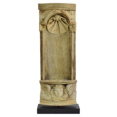17th / 18th Century French Carved Oak Baroque Altar Niche with Angel Head