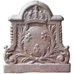 17th-18th Century French Louis XIV Fireback with the Coat of Arms of France