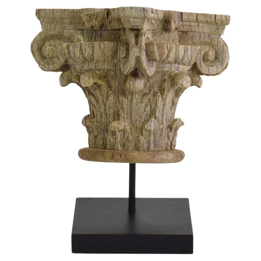 17th/ 18th Century French Weathered Oak Capital