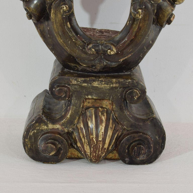 17th-18th Century Italian Wooden Reliquary Bust For Sale 7