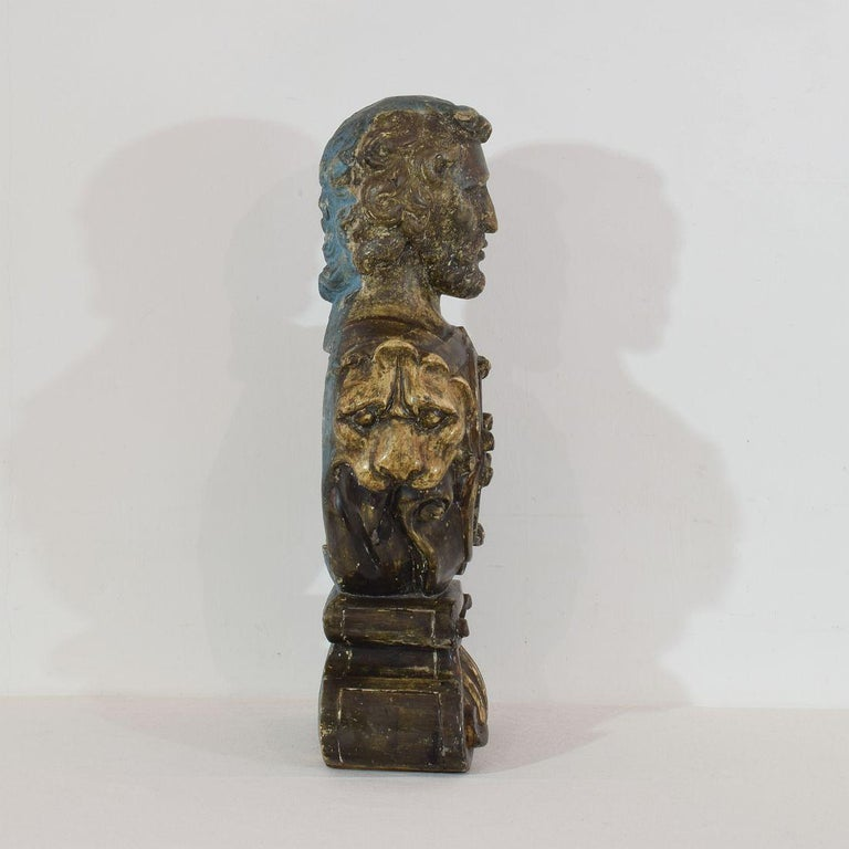 Late 17th Century 17th-18th Century Italian Wooden Reliquary Bust For Sale