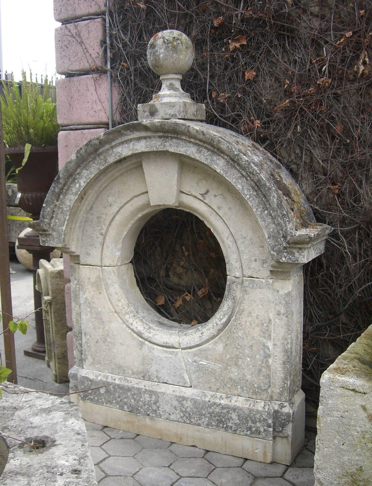 17th-18th Century Large Antique Carved Stone Wall Mount Water Fountain Feature For Sale 4